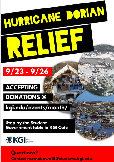 hurricane relief flier