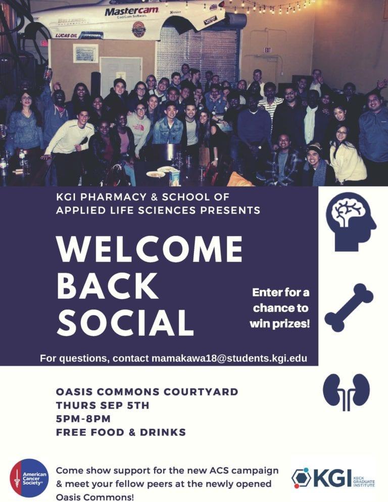 KGI Welcome Back Social - Keck Graduate Institute