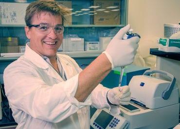 Alex Zambon in lab
